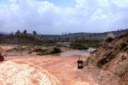 Hiện trạng lòng hồ thủy điện Ia Krel 2.