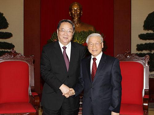 Tổng Bí thư Nguyễn Phú Trọng tiếp ông Du Chính Thanh Ảnh TTXVN
