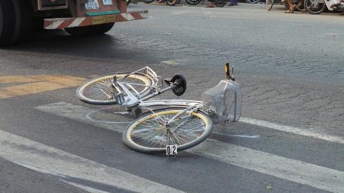 Hiện trường vụ tai nạn khiến em Kiệt bị kẹt cứng giữa hai bánh xe container tử vong tại chỗ