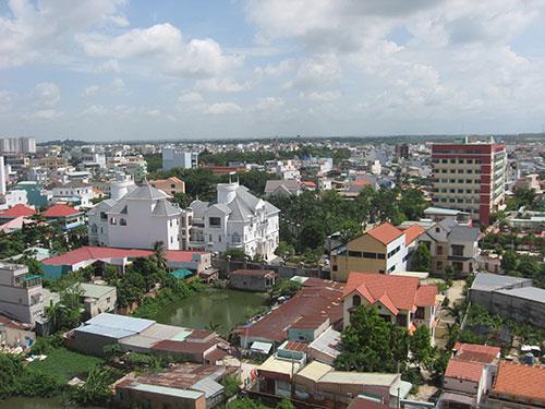 Một góc của TP Biên Hòa, tỉnh Đồng Nai