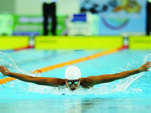 Ánh Viên gây ấn tượng mạnh với các phóng viên quốc tế theo dõi đường đua xanh tại SEA Games. Ảnh: REUTERS