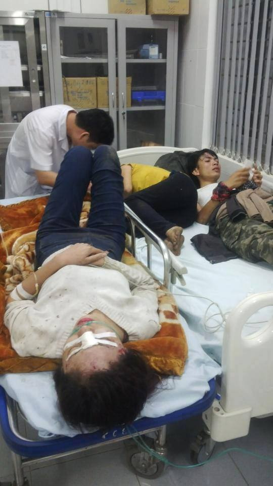 Nạn nhân đang điều trị tại bệnh viện