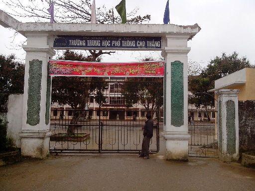 Trường THPT Cao Thắng, nơi thầy giáo Tú công tác trước khi mất tích bí ẩn