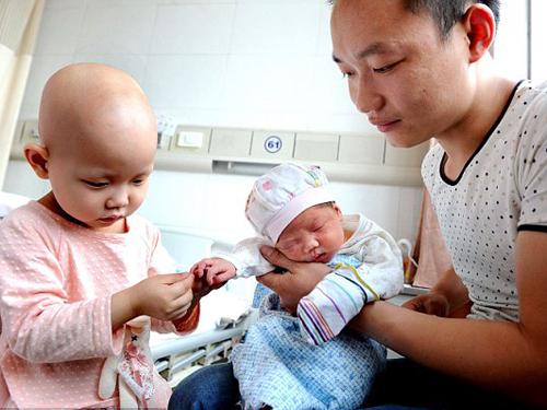 Bé Pan Jing và em gái