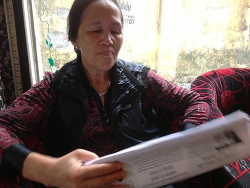 Bà Đỗ Thị Hằng trong một lần trao đổi với phóng viên Báo Người Lao Động.