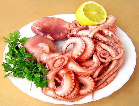 Các món từ bạch tuộc còn là thức ăn khoái khẩu đối với nhiều người
