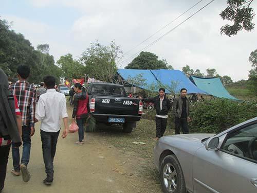 Mặc dù đã bị cấm nhưng xe công vẫn luôn xuất hiện tại các lễ hội Ảnh: Tuấn Minh