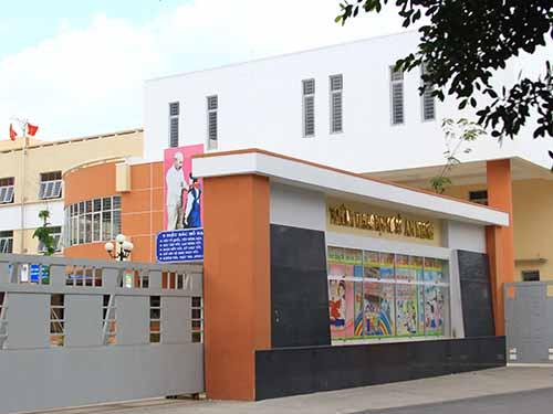 Trường THCS An Nhơn (phường 6, quận Gò Vấp, TP HCM), nơi xảy ra vụ tai nạn