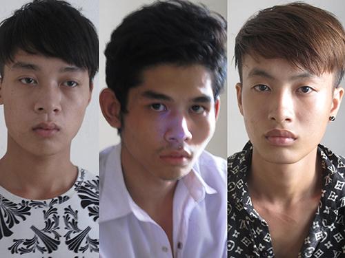 Ba kẻ sát hại chủ hiệu cầm đồ. Từ trái qua: Lã Tuấn Anh, Hoàng Ngọc Thương, Nguyễn Duy Chiến