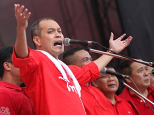 Thủ lĩnh Phe áo đỏ Nattawut Saikuar