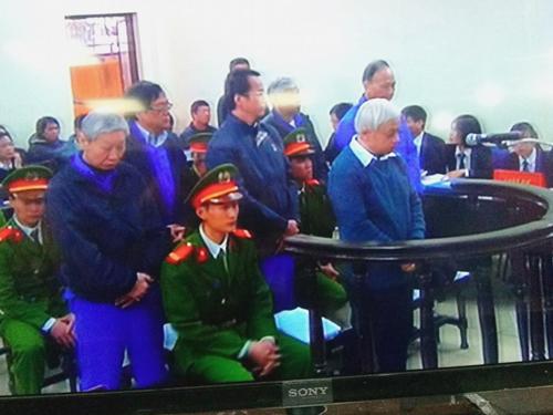 VKS đề nghị y án sơ thẩm với Nguyễn Đức Kiên (bầu Kiên) và các đồng phạm - Ảnh chụp qua màn hình