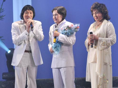 NSƯT Minh Vương và NSND Lệ Thủy chúc mừng live show Tấn Tài năm 2009.