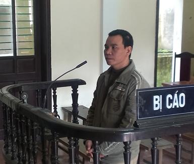 Bị cáo Lê Văn Ngọ tại phiên tòa