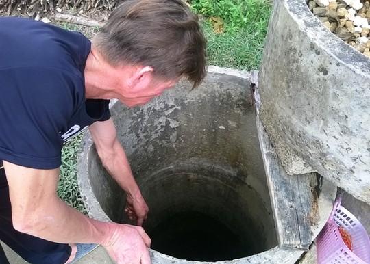 Chiếc giếng, nơi anh Vũ Ngọc Hoàn phát hiện xác con trai bị giết hại dã man