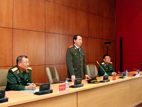 Đại tướng Trần Đại Quang yêu cầu Tổng cục II-Bộ Quốc phòng phối hợp, hiệp đồng chặt chẽ với các đơn vị chức năng của Bộ Công an