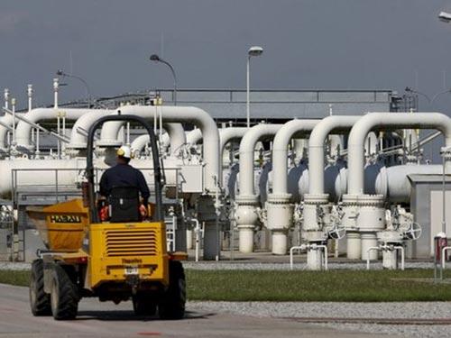 Khoảng 1/3 lượng khí đốt xuất khẩu của Nga đi qua Áo thông qua trung tâm ở Baumgarten Ảnh: REUTERS