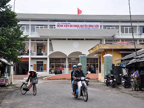 Theo kết luận của Thanh tra tỉnh Quảng Ngãi, Bệnh viện Đa khoa huyện Bình Sơn là một trong những nơi có nhiều sai phạm