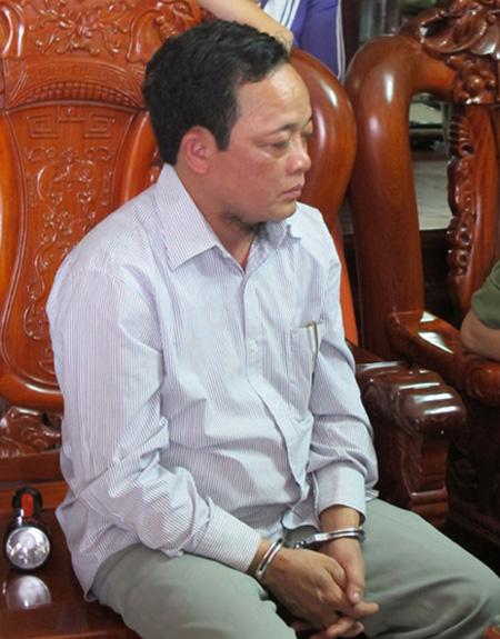 Nguyễn Thanh Thúy, tức cậu Thủy, lúc bị bắt giữ
