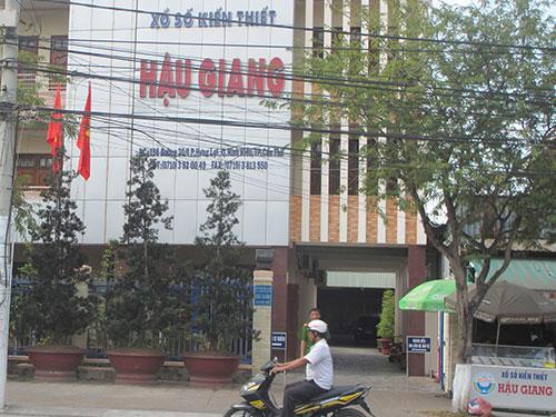 Trụ sở Công ty XSKT Hậu Giang trên đường 30 tháng 4, quận Ninh Kiều, TP Cần Thơ