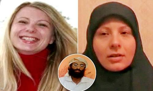 Aminah, vợ al-Awlaki, trước và sau khi cải đạo HồiẢnh: Daily Mail