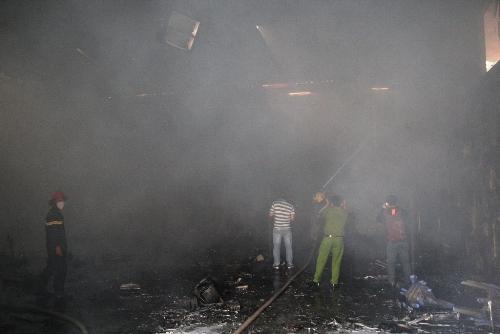 Phim trường của VTV bị lửa thiêu rụi vào chiều 25-1