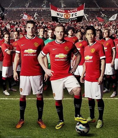 Mẫu áo đấu mùa 2014-2015 của Man United