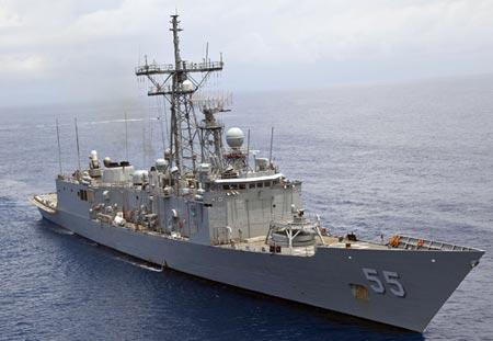 Tàu khu trục USS Elrod. Ảnh: CNA