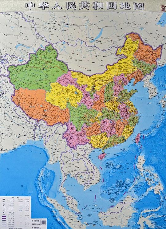 Bản đồ tham vọng của Trung Quốc. Ảnh: Reuters