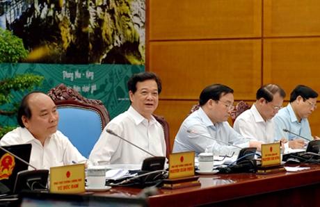 Thủ tướng Nguyễn Tấn Dũng chủ trì phiên họp Chính phủ tháng 7/2014. Ảnh: VGP/Nhật Bắc