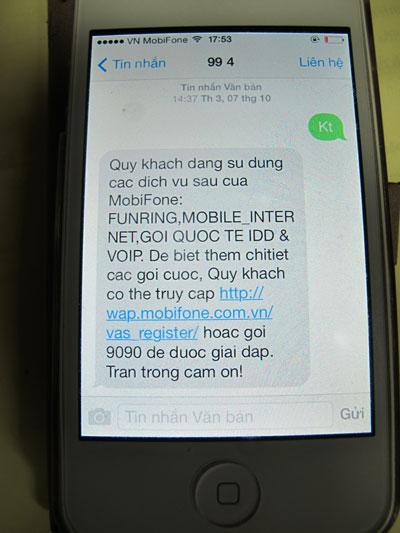 Nhà mạng liên tục gửi tin nhắn mời gọi khách hàng sử dụng dịch vụ