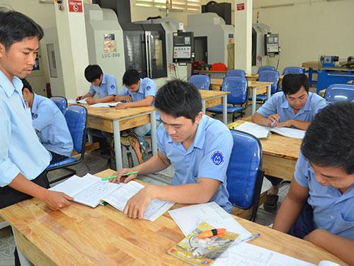 Trường Trung cấp nghề Kỹ thuật Công nghệ Hùng Vương thưa thớt học viên trong giờ họcẢnh: TẤN THẠNH