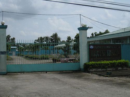 Xí nghiệp Kinh doanh Chế biến thủy sản xuất khẩu Ngọc Sinh hiện đã đóng cửa, để lại món nợ hàng trăm tỉ đồng. Ảnh: DUY NHÂN