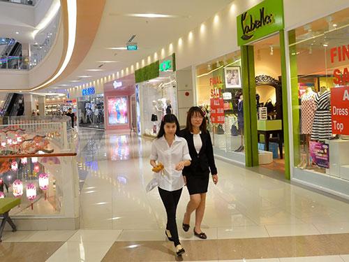 Trung tâm Mua sắm Aeon Mall của Nhật Bản khai trương hoạt động ở quận Tân Phú, TP HCM vào đầu năm 2014 Ảnh: TẤN THẠNH