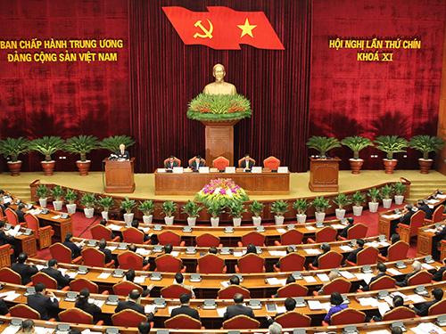 Khai mạc Hội nghị lần thứ 9 Ban Chấp hành Trung ương Đảng khóa XI Ảnh: TTXVN