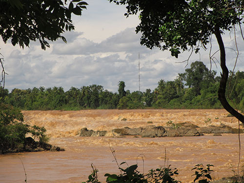 Vị trí dự kiến xây dựng đập thủy điện Don Sahong Ảnh: DƯƠNG THIỆN