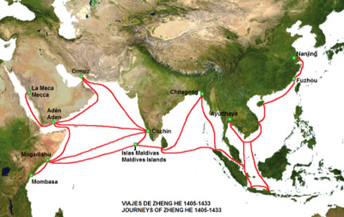 Bản đồ con đường tơ lụa trên biển (Ảnh do Quỹ Nghiên cứu biển Đông cung cấp)