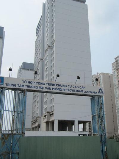 Dự án PetroVietnam Landmark hiện vẫn thi công ì ạch Ảnh: Tấn Thạnh