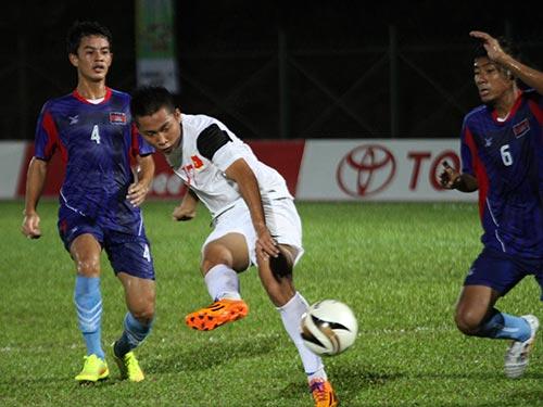 Phong độ chói sáng của Tuấn Tài (giữa) là một trong những niềm hy vọng của U19 Việt Nam