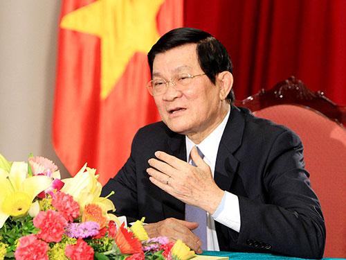 Chủ tịch nước Trương Tấn Sang: Trung Quốc đã đơn phương vi phạm thỏa thuận cấp cao giữa hai nước. Ảnh: TTXVN