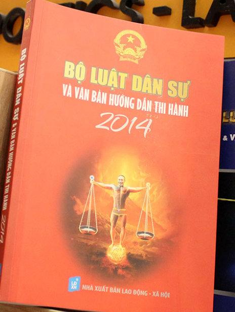 Bìa cuốn sách Bộ luật dân sự và văn bản hướng dẫn thi hành. Ảnh TTO