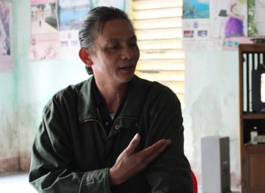 """Ông Nguyễn Đức Thuận, công an viên thôn Hương Đại, xác nhận: """"Sự việc anh Nam gọi người vào thôn truy sát thanh niên thôn là có thật"""