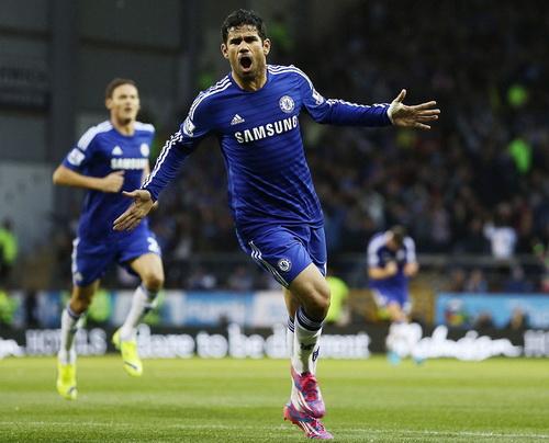 Diego Costa khai hỏa trong màu áo Chelsea