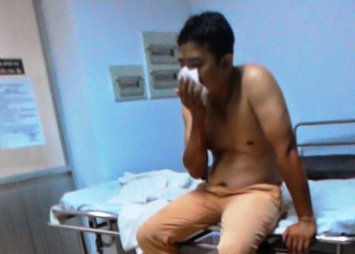 Trung úy Thanh tại bệnh viện