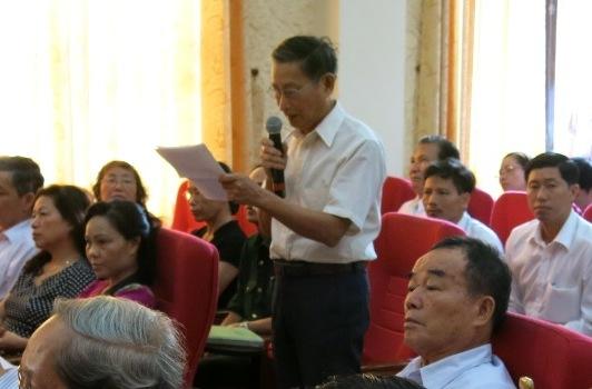 Cử tri quận Kiến An đóng góp ý kiến