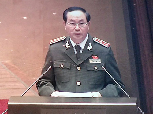 Bộ trưởng, Đại tướng Trần Đại Quang cho biết năm 2014 cơ quan công an đã khởi tố 303 vụ án trong lĩnh vực tài chính, ngân hàng và chứng khoán