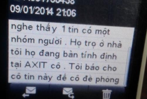Nội dung tin nhắn báo tin mẹ em Hà Trang Linh Mai bị dọa tạt axit