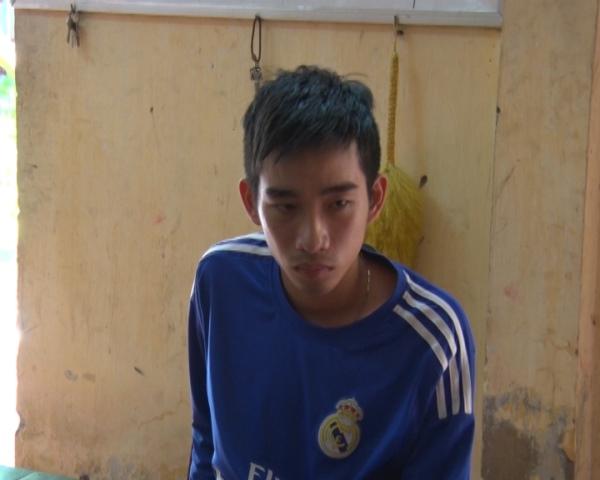 Đối tượng Nguyễn Trường Cát tại cơ quan điều tra.