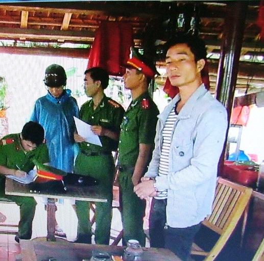 Đối tượng Tuấn bị bắt vì nhậu say rồi đánh công an trọng thương