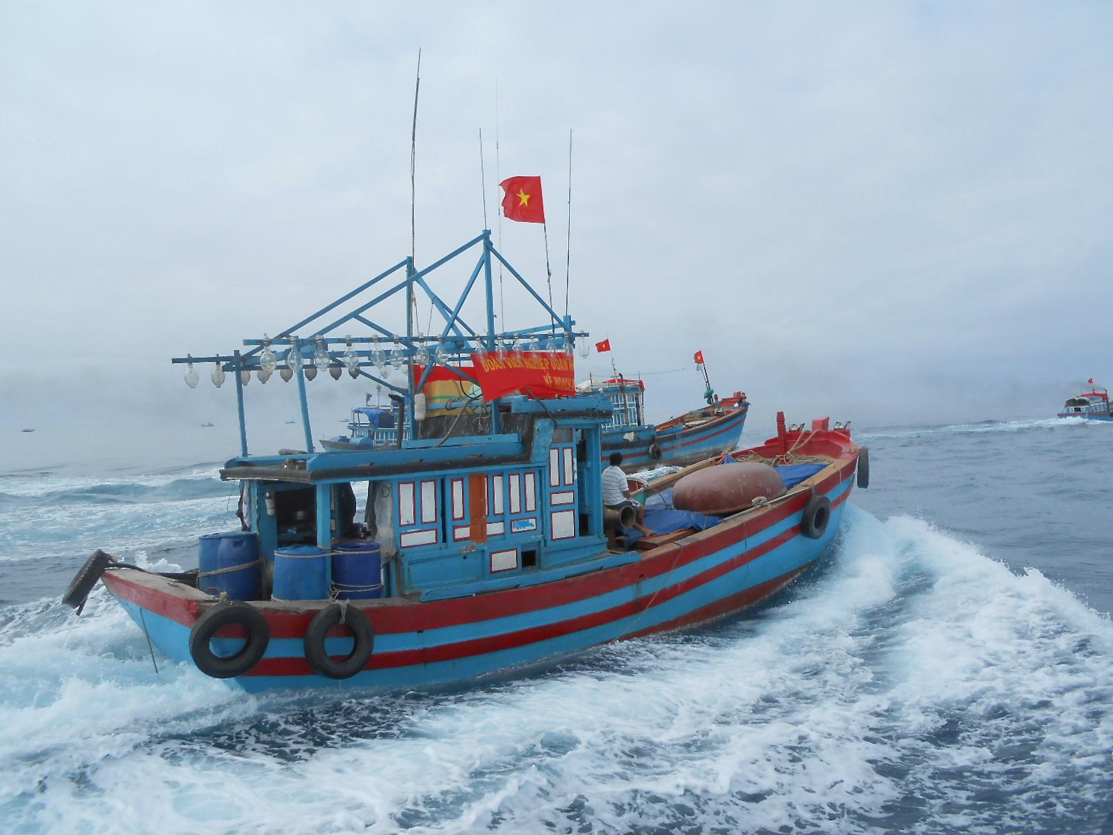 Ngư dân Quảng Ngãi quyết tâm bám biển Hoàng Sa