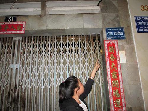Công ty Cửu Hương không mở cửa tiếp đoàn làm việc của Chi cục An toàn vệ sinh thực phẩm TP HCM Ảnh: NGỌC ÁNH